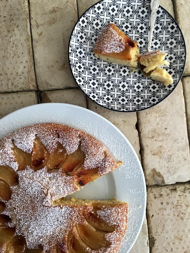 עוגת תפוחים מהירהבמחבת